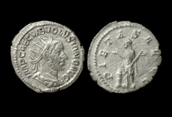 Volusian AR Antoninianus, Pietas Reverse, Superb!
